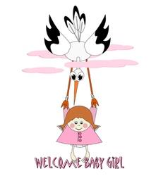 Welcome Baby Girl vector image