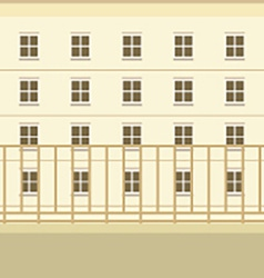 Balcony With Building View Background vector image