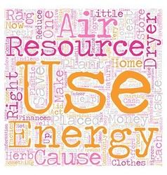 Energy aware and waste wise text background vector