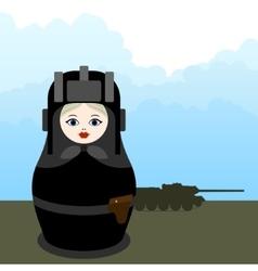 Matryoshka tankman vector image vector image