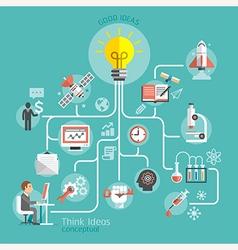 Think ideas conceptual design vector image vector image