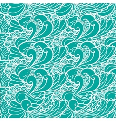 wavy sea blue and green vector image