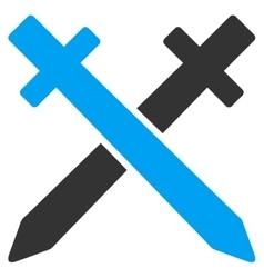 Crossing swords icon vector