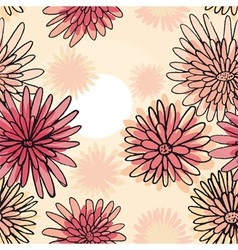 pattern of the daisies vector image