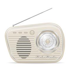 radio old retro vintage icon stock vector image vector image