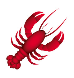 red lobster icon image vector image