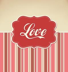 retro love vector image