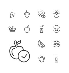 13 sweet icons vector