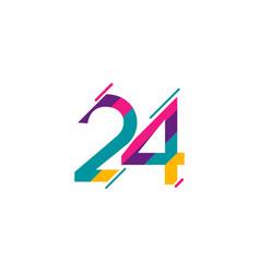 24 years anniversary celebration template design vector