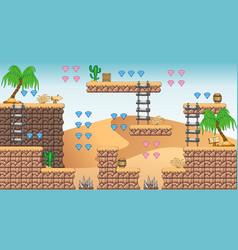 2d tileset platform game 11 vector