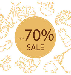 advertising banner design for bicycle sale vector image