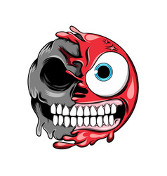 Angry expression with big eyes changes vector