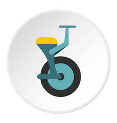 Blue unicycle icon circle vector