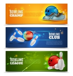 Bowling Banners Set vector