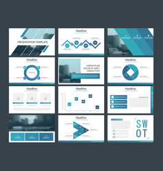 bundle infographic elements presentation template vector image