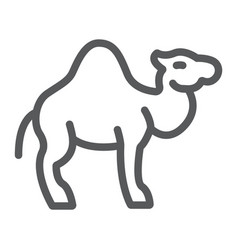camel line icon arab and animal mammal sign vector image
