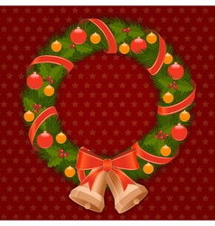 Christmas wreath 1 vector