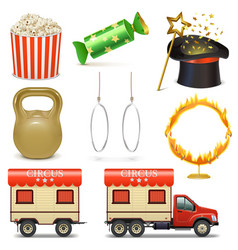 Circus Icons Set 2 vector