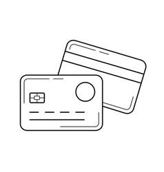 Credit card line icon vector