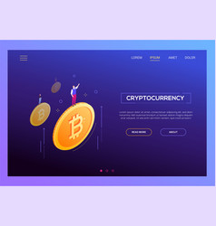 Cryptocurrency concept - modern isometric vector