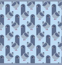 Dove pattern seamless pigeon cartoon background vector