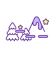 Drawing game levels rgb color icon vector