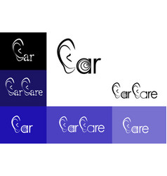 ear care logo emblem vector image