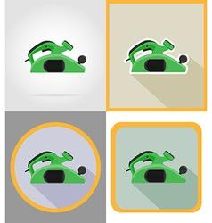 Electric repair tools flat icons 14 vector
