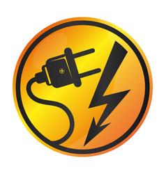 Electricity sign vector