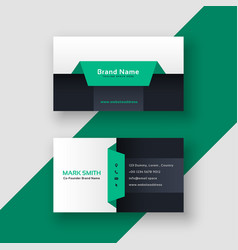 Elegant geometric business card template vector