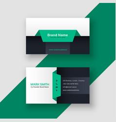 elegant geometric business card template vector image