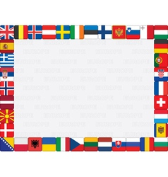 European countries flag icons frame vector image