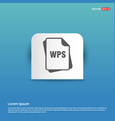 File format icon - blue sticker button vector