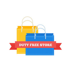 flat icon of duty free shopping bags at vector image