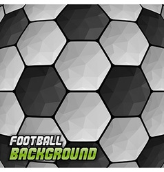 Football background triangles text vector