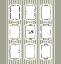 frame design decorate element set 3 vector image