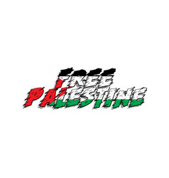 Free palestine design vector