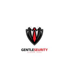 Gentle security logo software design vector