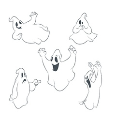 Ghostes vector image