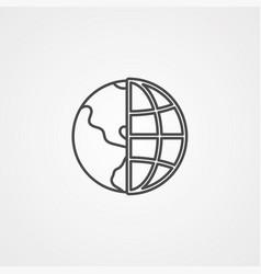 globe icon sign symbol vector image