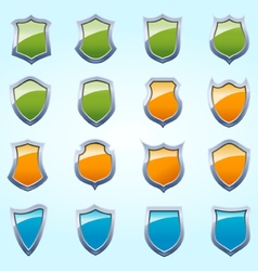 Glossy Shield Pack vector image