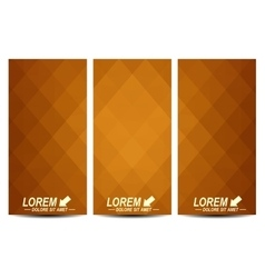 Golden set of flyers Background with gold vector