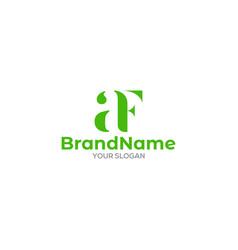 Green af logo design vector