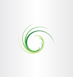 green natural fresh wave flow icon vector image