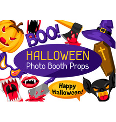 Halloween photo booth props accessories for vector