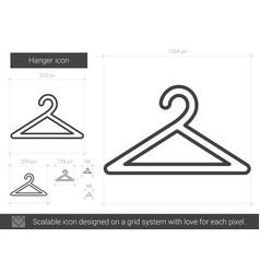 Hanger line icon vector