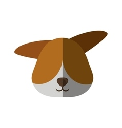 Head dog pet animal vector