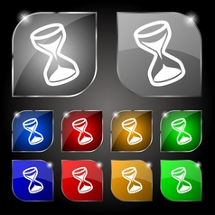 hourglass icon sign Set of ten colorful buttons vector image vector image