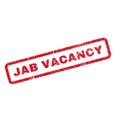 Jab Vacancy Rubber Stamp vector