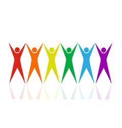 Lgbt abstract concept vector